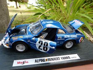 【送料無料】模型車 モデルカー スポーツカー アルパインルノーラリーalpine renault 1600 s rmc rally n 28 118 maisto boite