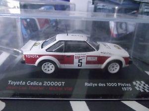 【送料無料】模型車 モデルカー スポーツカー toyota celica 2000 gt 1000 pistes 1979 therier altaya ixo 143