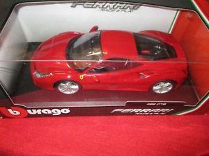 【送料無料】模型車 モデルカー スポーツカー フェラーリレースbburago 16008 118 ferrari race amp; play 488 gtb rot neu ovp