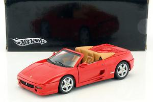 【送料無料】模型車 モデルカー スポーツカー フェラーリスパイダーレッドァーneues angebotferrari f355 spider baujahr 1994 rot 118 hotwheels