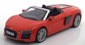 【送料無料】模型車 モデルカー スポーツカー スケールアウディスパイダーレッドハット118 iscale audi r8 spyder v10 2016 red