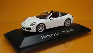 【送料無料】模型車 モデルカー スポーツカー ポルシェカレラスポーツカースケールherpa 071123 porsche 911 targa 4s wei white sportwagen scale 1 43 neu ovp