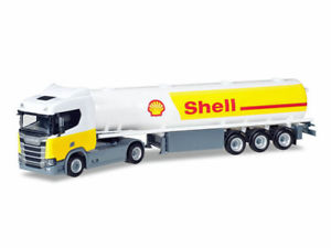 【送料無料】模型車 モデルカー スポーツカー トラックシェルガソリンタンクセミトレーラトタherpa 307611 h0 lkw scania cs 20 nd benzintanksattelzug shell