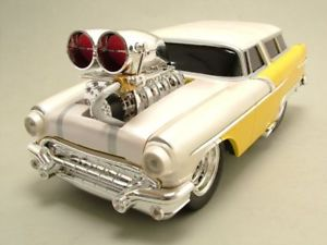 【送料無料】模型車 モデルカー スポーツカー ポンティアックサファリイエローマザーオブパールマシンモデルカーpontiac safari 1956 gelbperlmutt, muscle machines, modellauto 118 maisto