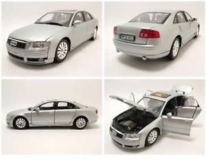 【送料無料】模型車 モデルカー スポーツカー アウディシルバーモデルカーヒートaudi a8 2004 silber, modellauto 118 motormax