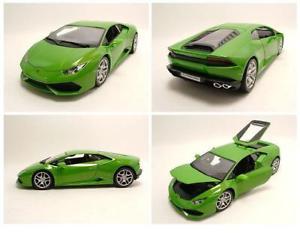 【送料無料】模型車 モデルカー スポーツカー ランボルギーニメタリックグリーンモデルカーlamborghini huracan lp6104 2014 grn metallic, modellauto 118 burago