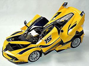 【送料無料】模型車 モデルカー スポーツカー フェラーリ#ferrari fxxk 15 f140 v12 gelb yellow 118 bburago