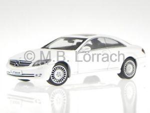 【送料無料】模型車 モデルカー スポーツカー メルセデスホワイトモデルカーmercedes c216 cl 500 weiss modellauto autoart 143