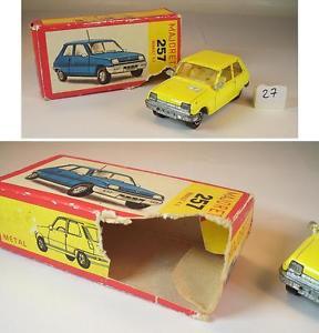 【送料無料】模型車 モデルカー スポーツカー ルノーリムジン#majorette 155 nr 257 renault 5 limousine gelb ovp 027