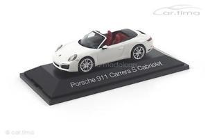 【送料無料】模型車 モデルカー スポーツカー ポルシェカレラカブリオレporsche 911 991 ii carrera s cabriolet wei herpa 143 070980