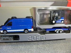 【送料無料】模型車 モデルカー スポーツカー トレーラートラック187 herpa vw crafter m pkwtransportanhnger u gabelstapler thw 093118
