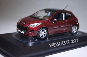 【送料無料】模型車 モデルカー スポーツカー プジョーレッドpeugeot 207 rot 2009 143 norev neu amp; ovp 472792