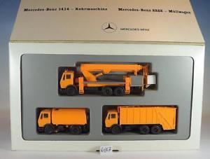 【送料無料】模型車 モデルカー スポーツカー メルセデスベンツ#herpa 187 set ifat 3 mercedes benz kommunalfahrzeuge ovp 6867