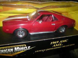 【送料無料】模型車 モデルカー スポーツカー アメリカレッドハット118 ertl american muscle amc amx 1969 rotred in ovp