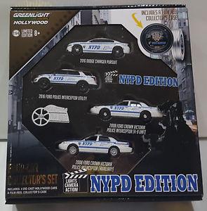 【送料無料】模型車 モデルカー スポーツカー エディションコレクターフォードセットダッジgreenlight hollywood nypd edition fourcar collectors set ford dodge 164