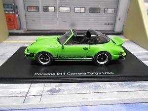 【送料無料】模型車 モデルカー スポーツカー ポルシェカレラアヒルタルアメリカグリーングリーンネオporsche 911 carrera 27 entenbrzel targa usa grn green neo resine sp 143