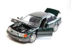 【送料無料】模型車 モデルカー スポーツカー グリーンバードグリーンメタリックアウディセダンセダンaudi 100 c4 limousine saloon in grn verde green metallic, schabak in 143
