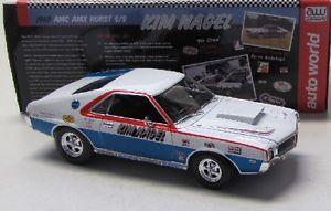 【送料無料】模型車 モデルカー スポーツカー ネイルカーワールドamc amx hurst ss 1969 knagel auto world 118
