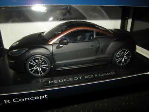 【送料無料】模型車 モデルカー スポーツカー プジョーコンセプトノワールマット118 norev peugeot rcz r concept 2012 noir mat nr 184787 in ovp