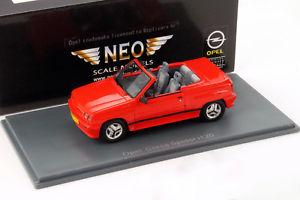 【送料無料】模型車 モデルカー スポーツカー クモオペルコルサネオopel corsa spider irmscher i120 rot 143 neo