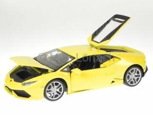 【送料無料】模型車 モデルカー スポーツカー ランボルギーニイエローモデルカーlamborghini huracan lp 6104 gelb modellauto 11038 bburago 118