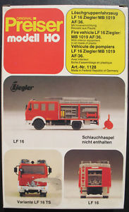 【送料無料】模型車 モデルカー スポーツカー preiser 1128 lschgruppenfahrzeug lf 16 ziegler mb 1019 af36 187 feuerwehr