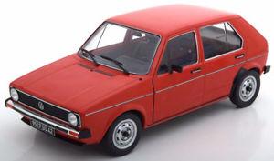 【送料無料】模型車 モデルカー スポーツカー ゴルフ118 solido vw golf 1 l 19741978 red