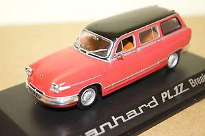 【送料無料】模型車 モデルカー スポーツカー panhard pl 17 break rotschwarz 1964 143 norev neu ovp 451722