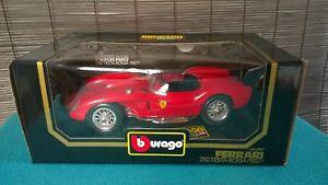 【送料無料】模型車 モデルカー スポーツカー フェラーリテスタロッサカブリオレモデルカーferrari 250 testa rossa cabrio 1957 3007 modellauto 118 bburago in ovp