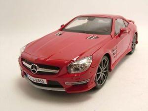 【送料無料】模型車 モデルカー スポーツカー メルセデスrモデルカーmercedes sl 63 amg r231 2012 rot, modellauto 118 maisto