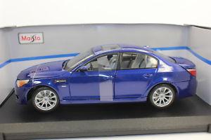 【送料無料】模型車 モデルカー スポーツカー maisto 31144 bmw m5 blau 118 neu mit ovp