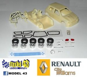 【送料無料】模型車 モデルカー スポーツカー ルノークリオウィリアムズキットrenault clio williams   kit montaggio