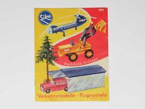 【送料無料】模型車 モデルカー スポーツカー プラスチックカタログページsiku plastik katalog 1962 12 seitig 0024205