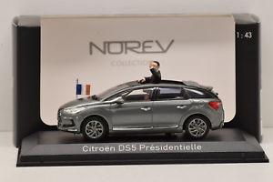 【送料無料】模型車 モデルカー スポーツカー シトロエンプレガリーナcitroen ds5 presidentielle 2012 gris galena norev 143 neuve en boite