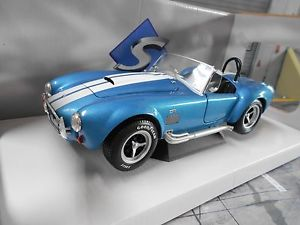 【送料無料】模型車 モデルカー スポーツカー シェルビーコブラフォードac shelby cobra ford v8 427 mkii blau blue met 1965 solido metall neu 118