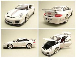 【送料無料】模型車 モデルカー スポーツカー ポルシェグアテマラルピーホワイトモデルカーporsche 911 997 gt3 rs 40 2011 wei, modellauto 118 burago