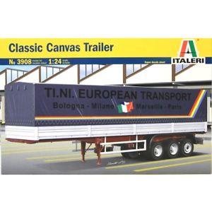 【送料無料】模型車 モデルカー スポーツカー クラシックキャンバストレーラスカラss italeri 3908 classic canvas trailer  scala 124