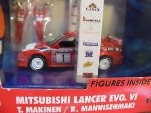 【送料無料】模型車 モデルカー スポーツカー ランサーマキネン143 vitesse mitsubishi lancer evovi figuren tmakinenrmannisenmaki skw015