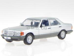 【送料無料】模型車 モデルカー スポーツカー メルセデスシルバーモデルmercedes w126 500 se 1979 silber modellauto wb179 whitebox 143