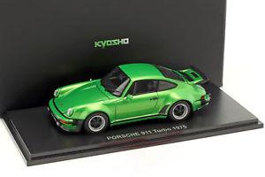 【送料無料】模型車 モデルカー スポーツカー ポルシェターボモデルメタリックグリーンporsche 911 turbo baujahr 1975 grn metallic 143 kyosho
