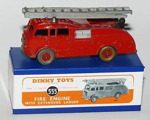 【送料無料】模型車 モデルカー スポーツカー dinky toys nr 555 fire engine with extending ladder in profession reprobox