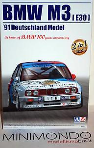 【送料無料】模型車 モデルカー スポーツカー キットkit bmw m3 e30 1991 dtm 124 aoshima 09819 beemax 24007 aoshima