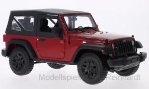 【送料無料】模型車 モデルカー スポーツカー ジープラングラー118 maisto jeep wrangler 2014 rot schwarz 203355