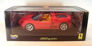 【送料無料】模型車 モデルカー スポーツカー ホットホイールフェラーリスパイダーレッド#hot wheels 118 ferrari 360 spider rot ovp 2892