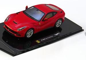 【送料無料】模型車 モデルカー スポーツカー ホットホイールエリートフェラーリレッドハット143 hot wheels elite ferrari f12 berlinetta 2012 red