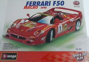 【送料無料】模型車 モデルカー スポーツカー キットカーフェラーリイタリアマカオタイプburago 118 kit in metallo auto ferrari f50 macao 1995 made in italy art 7052