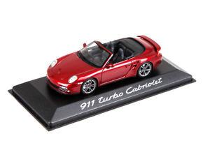 【送料無料】模型車 モデルカー スポーツカー ポルシェターボカブリオレモデルカーporsche modellauto 911 997 turbo cabriolet rot 143 wap0200130a