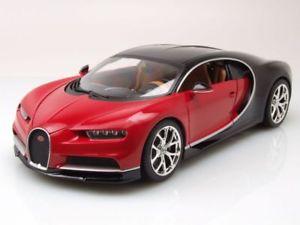 【送料無料】模型車 モデルカー スポーツカー ブガッティカイロンモデルカーbugatti chiron 2016 rotschwarz, modellauto 118 burago