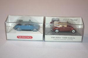 【送料無料】模型車 モデルカー スポーツカー somoフォルクスワーゲンカブリオレセット2erset wiking konvolut vw 1200 cabriolet 187 h0 ovp inkl somo bullimuseum