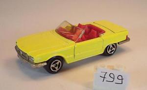 【送料無料】模型車 モデルカー スポーツカー メルセデスベンツ#majorette 160 nr 213 mercedes benz 350 sl cabrio gelb nr3 799